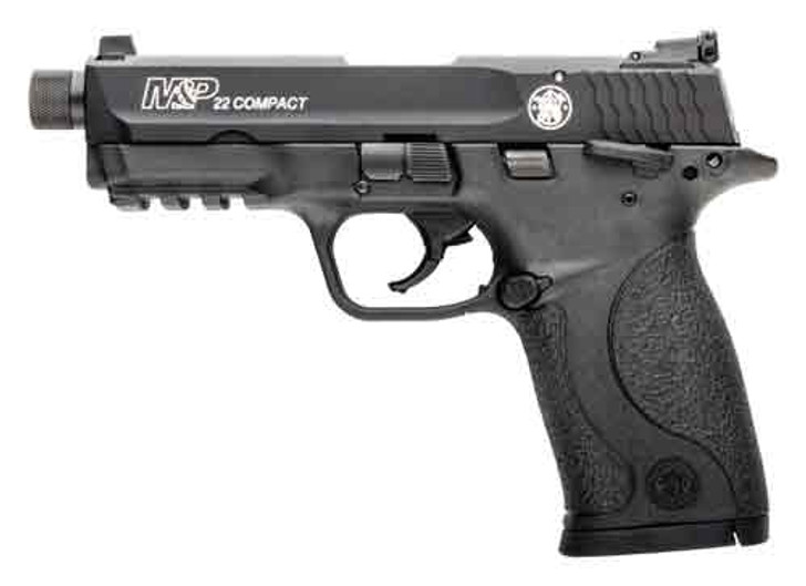 """Smith & Wesson M&P22 Compact 22 LR 3.56"""" Threaded Barrel 10+1 Rounds 10199"""