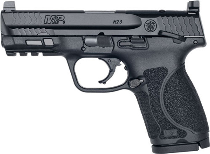 """Smith & Wesson M&P M2.0 Compact 9mm 4"""" Barrel Optics Ready Slide 15+1 Rounds 13144"""