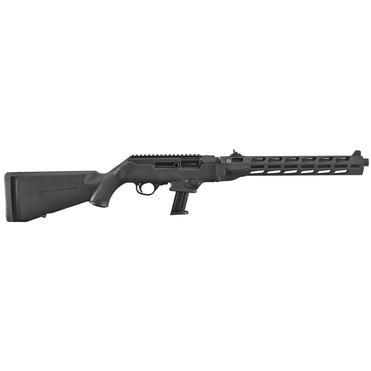 """Ruger PC Carbine 9mm Luger 16.12"""" Threaded Fluted Heavy Barrel 17+1 Rounds Black Hard Coat Anodized M-LOK 19115"""