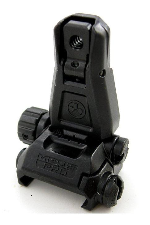 Magpul MBUS Pro AR-15 Backup Flip-Up Rear Sight, Steel, Black MAG276