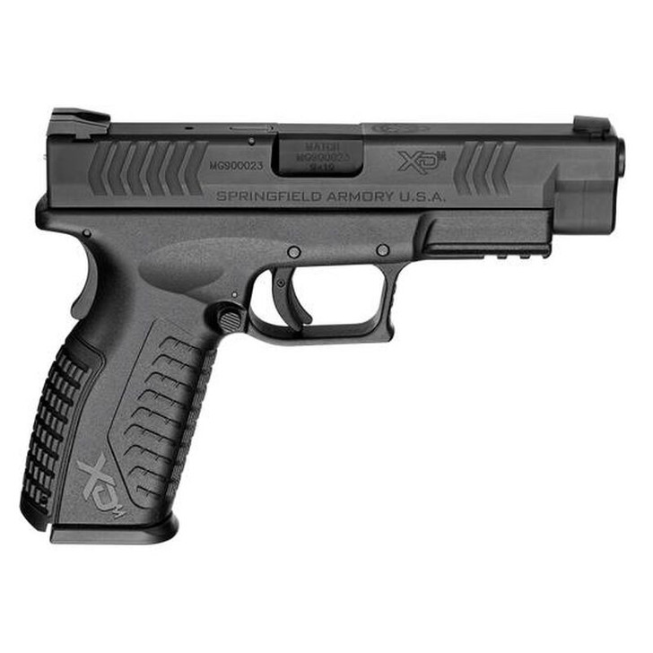 "Springfield Armory XD(M) Full Size Semi Auto Pistol 9mm Luger 4.5"" Steel Melonite Barrel 19 Rounds Dovetail Front/Rear 3 Dot Sights Essentials Polymer Frame Matte Black XDM9201HCE"