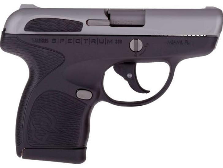 "Taurus Spectrum 380 ACP Semi-Auto 2.8"" Barrel Stainless Steel Slide Black Polymer Frame 7+1 Rounds 1007039101"