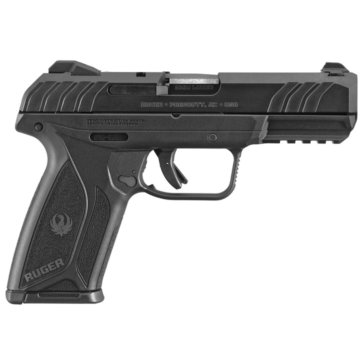 "Ruger Security-9 Centerfire 9MM 4"" Barrel Glass Filled Nylon Frame Blued Finish 15+1 Rounds 3 Dot Drift-Adjustable Sights 3810"