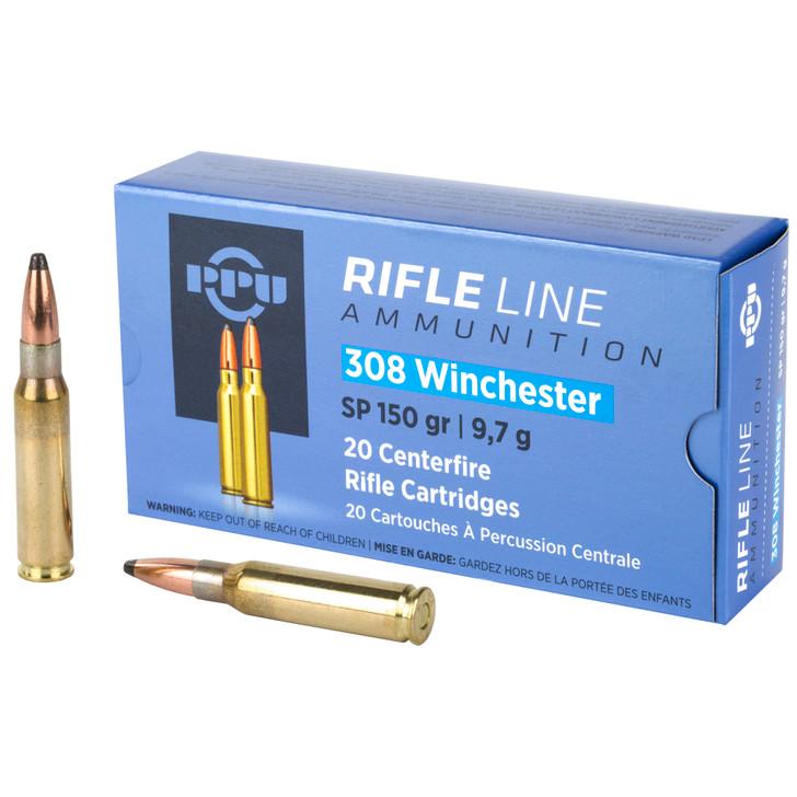Prvi Partizan PPU .308 Winchester Ammunition 20 Rounds 150 Grain Soft Point 2690fps PP308