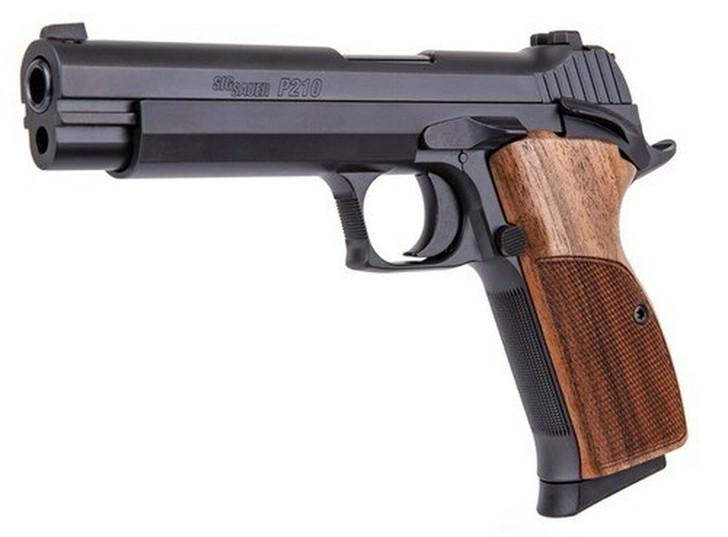 """Sig Sauer P210 Standard 9mm 5"""" Barrel Walnut Target Grips 8+1 Rounds 210A-9-B"""