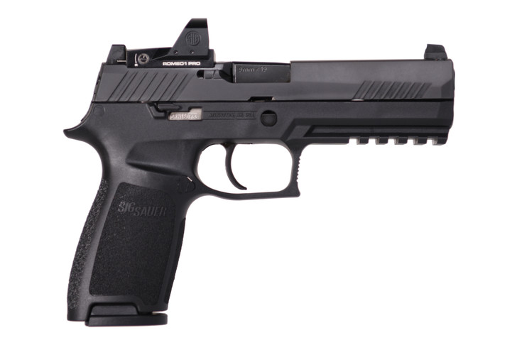 """Sig Sauer P320 Full Size 9mm 10+1 Rounds 4.7"""" Barrel Romeo1 Pro with Suppressor Contrast 3-dot Sight 320F-9-B-RXP-10"""