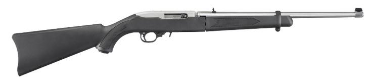 """Ruger 10/22 Takedown Semi-Auto 22 LR 18.5"""" Takedown Barrel Clear Matte Stainless Steel Finish Black Synthetic Stock Adjustable Rear & Bead Front Sight 10 Rounds Includes Ballistic Nylon Case 11100"""