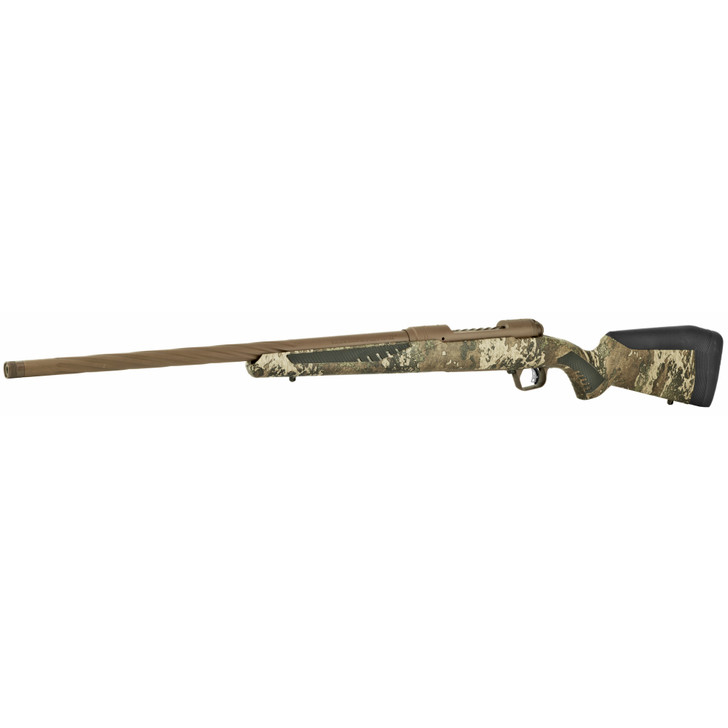 """Savage Arms 110 High Country .243 Win Bolt Action Rifle 22"""" Barrel 4 Rounds Synthetic Adjustable AccuFit AccuStock TrueTimber Strata Camo/Coyote Brown Finish 57411"""