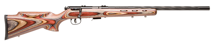"Savage Model 93 BRJ Bolt Action Rifle .22 WMR 21"" Heavy Barrel 5 Rounds Blue Royal Jacaranda Laminate AccuTrigger 92745"