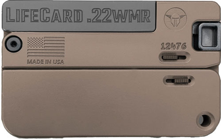 "Trailblazer Firearms LifeCard LC2 Pistol 22 WMR 2.5"" Barrel Single Shot Aluminum Barret Brown LC2-BBN"