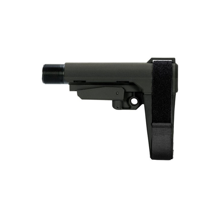 SB Tactical Five Position Adjustable Brace Stealth Gray With Six Position Mil-Spec Carbine Ext SBA3-03M-SB