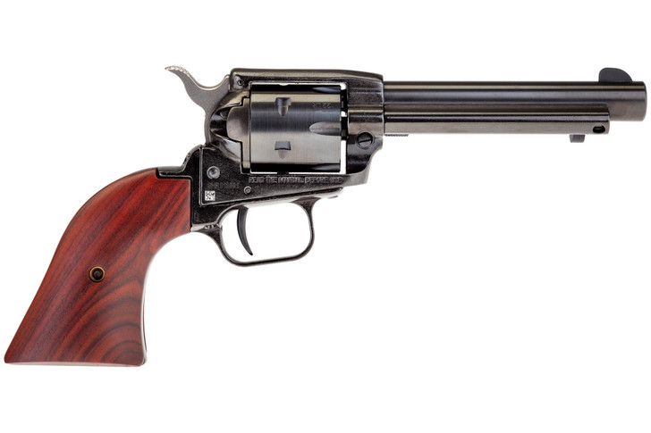 """Heritage Manufacturing Rough Rider Revolver .22 LR 4.75"""" Barrel 6 Rounds Cocobolo Wood Grips Blue Finish RR22B6"""