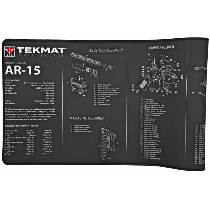 TekMat AR-15 Ultra Premium Gun Cleaning Mat Includes Microfiber TekTowel Packed In Tube TEK-R44-AR15