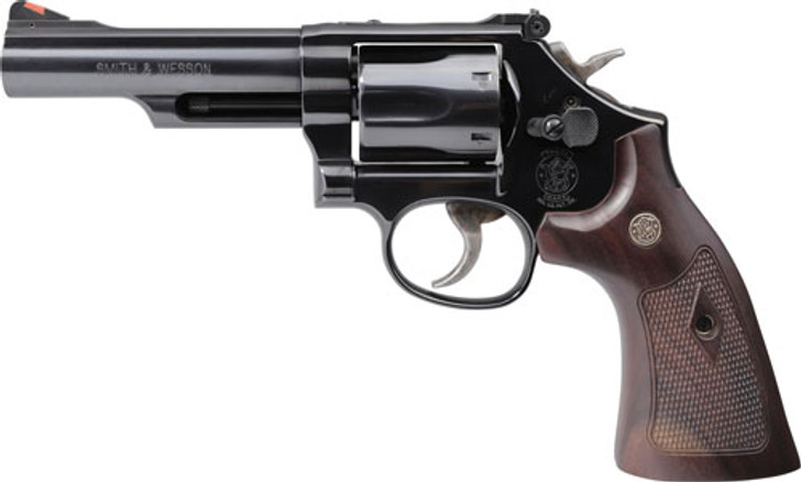 """Smith & Wesson Model 19 Classic Revolver 357 Magnum/ 38 Special 4.25"""" Barrel Carbon Steel Frame Blue Finish Walnut Grips 6 Round Red Ramp Front Sight Adjustable Rear Sight 12040"""