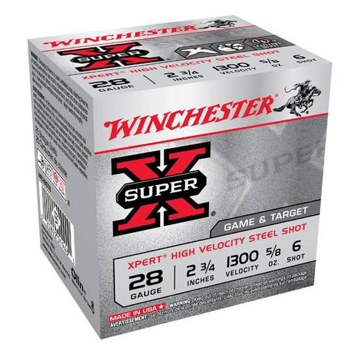 "Winchester Xpert HV 28 ga 2-3/4"" #6 Steel 5/8oz 25 Rnd Box WE28GT6"