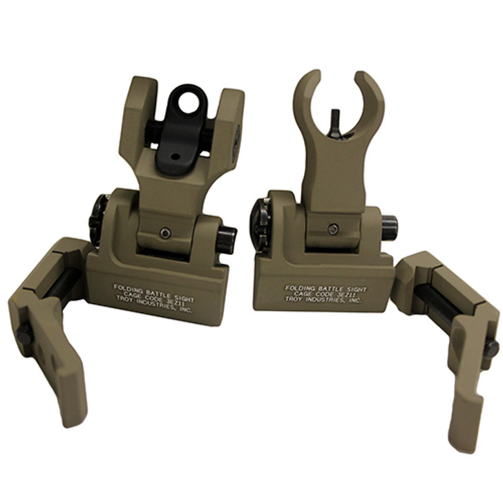 Troy 45-Degree Offset Sight Set M4 Front & Dioptic Rear Flat Dark Earth SSIG-45S-MDFT-00