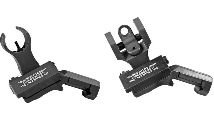 Troy 45-Degree Offset Sight Set M4 Front & Dioptic Rear Black SSIG-45S-HRBT-01