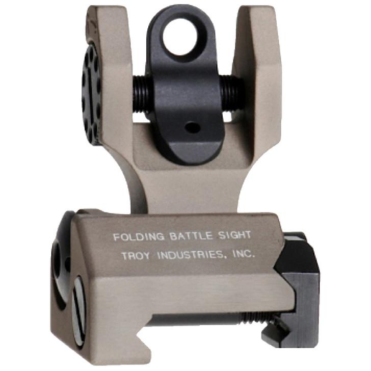 Troy Rear Folding M4 Battle Sight Flat Dark Earth SSIG-FBS-ROFT-00