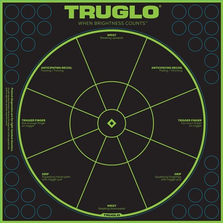 "TRUGLO Splatter Handgun Diagnostic Target 12""x12"" Green/Black 6 Pack TG15A6"