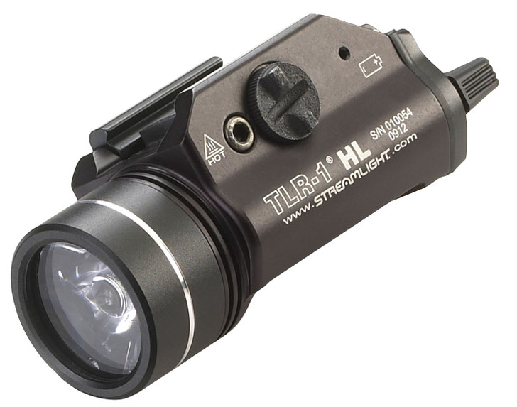 Streamlight TLR-1 HL Weaponlight LED with 2 CR123A Batteries Fits Picatinny or Glock-Style Rails Aluminum 69260