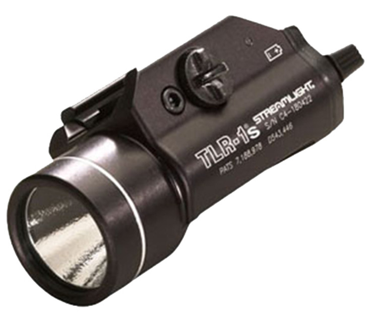 Streamlight TLR-1S Weapon Light LED with 2 CR123A Batteries fits Picatinny and Glock Rails Aluminum Matte 69210