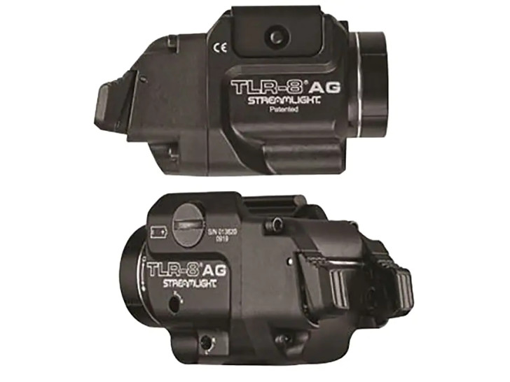 Streamlight TLR-8A Flex Weapon Light White LED with Green Laser with CR123A Battery Fits Picatinny or Glock Style Rails Aluminum Black 69434