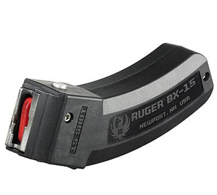 Ruger 10/22 BX-15 Series Magazine .22 LR 15 Round Polymer Construction Matte Black Finish 90463