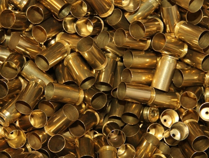 .45 ACP Once Fired Small Primer Brass Cleaned 500 Count Bulk Bag 45ACP-500
