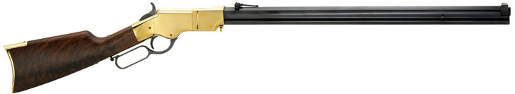 """Henry New Original Lever Action Rifle .44-40 WCF 24.5"""" Octagonal Blued Steel Barrel 13 Rounds Polished Brass Receiver Fancy American Walnut Stock H011"""