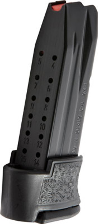 Walther PPQ M2 Sub-Compact Magazine 9mm Luger 15 Rounds Anti-Friction Coating Polymer Base Plate Grip Sleeve Steel Body Matte Black 2829720