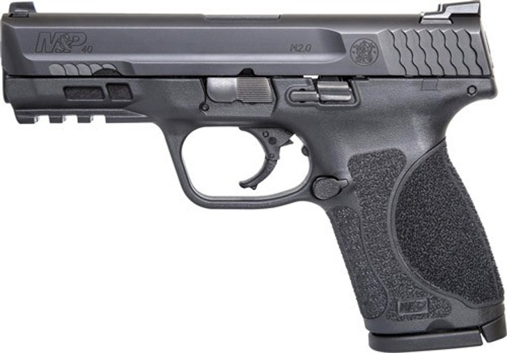 Smith & Wesson M&P M2.0 Compact 40 S&W 4″ Barrel 13+1 Round Black Armornite Stainless Steel Slide Black Interchangeable Backstrap Grip 11684