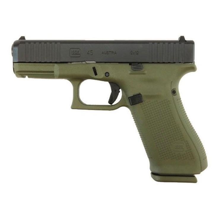 Glock 45 Gen 5 9mm Pistol Battlefield Green PA455S203BFG