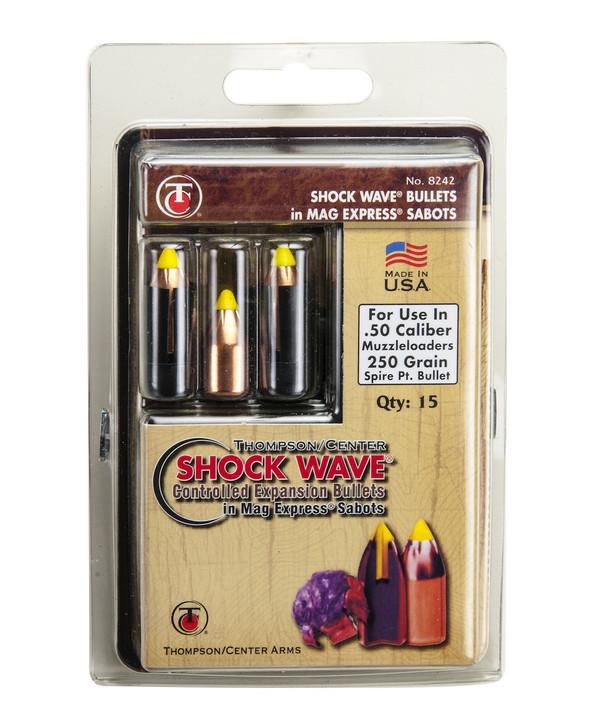 Thompson/Center .50 Caliber 300-Grain Shockwave Spire Point Polymer Tip Sabot Bullet 15-Pack 17008230