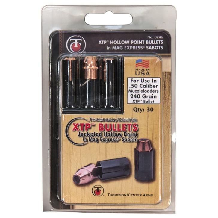 Thompson/Center Mag Express 50 Caliber Sabot with 240 Grain Hornady XTP Bullet 30 Pack 17008246