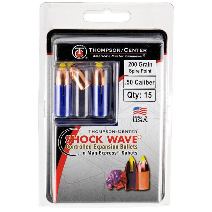 Thompson/Center .50 Caliber 200-Grain Shockwave Spire Point Polymer Tip Sabot Bullet 15-Pack 17008238