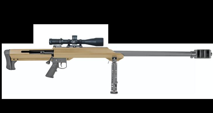 "Barrett Model 99 .50 BMG Single Shot Bolt Action Rifle 32"" Heavy Barrel Cerakote Flat Dark Earth Finish Bi-Podynthetic w/ Nightforce NX8 C624 13273"