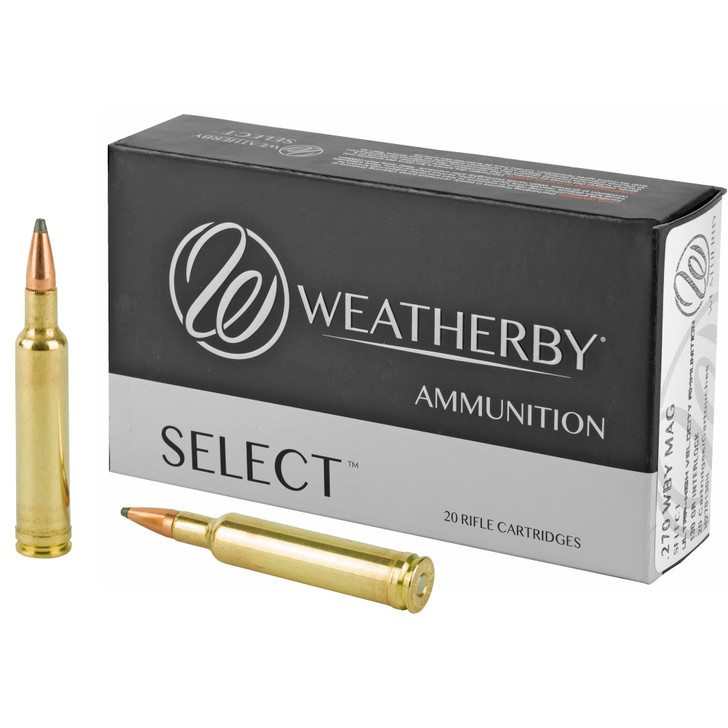 Weatherby Select 270 Weatherby Magnum 130 gr Hornady Interlock 20 Bx/ 10 Cs H270130IL