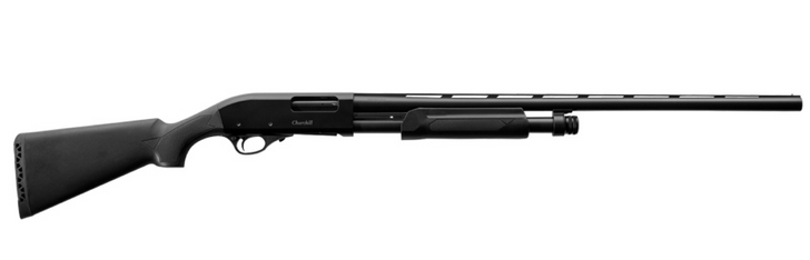 "EAA Akkar Churchill 612 Hunter 12 Gauge Pump Action Shotgun 28"" Barrel 5 Rounds Bead Sight Synthetic Stock Blued/Black Finish  111385"