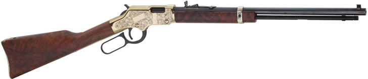 """Henry Golden Boy Deluxe Engraved 3rd Edition Lever Action Rifle .22 LR/L/S 20"""" Octagonal Barrel 16 Rounds Engraved Receiver Walnut Stock Blued H004D3"""