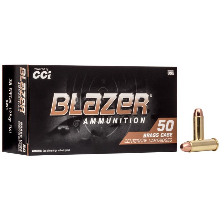 CCI Blazer Brass 38 Special 125gr FMJ Ammunition 50 Rounds 5204