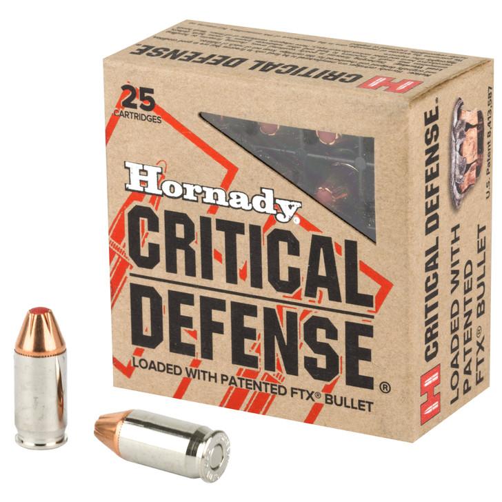 Hornady Critical Defense 380 ACP 90 GR FTX 25 Rounds 90080