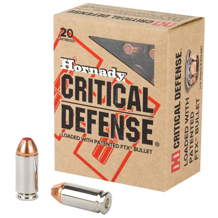 Hornady Critical Defense 40 S&W Ammo 165 Grain Flex Tip Expanding 91340