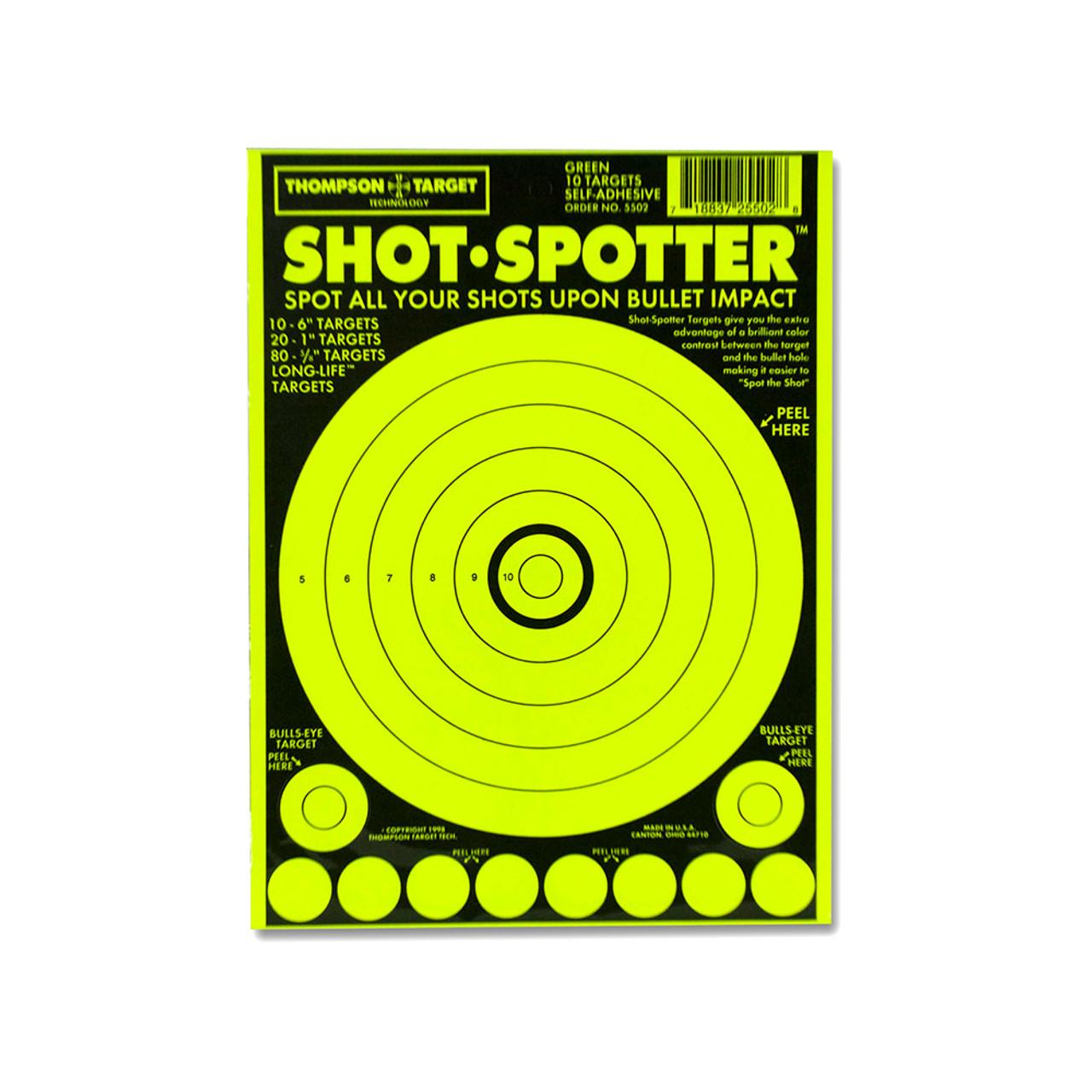 Shot Spotter Green - Adhesive Shooting Targets - 6