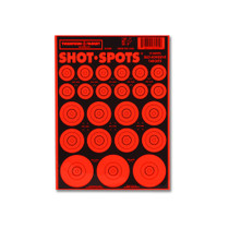 Shot Spots Bright Orange Adhesive Peel and Stick Bullseye Paster Gun Targets by Thompson