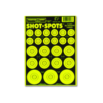 Shot Spots Green Adhesive Peel and Stick Bullseye Paster Gun Targets by Thompson