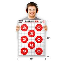 "Man holding Thompson Target Sight-Seer Red 19""x25"" Shooting Target"