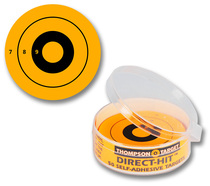 Direct Hit Yellow Adhesive Shooting Targets by Thompson