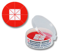 Diamond Square Red Adhesive Shooting Targets by Thompson