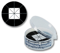 Diamond Square Black Adhesive Shooting Targets by Thompson