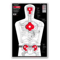 B27STOP Life Size Human Silhouette Indoor Handgun, pistol, rifle, and gun Paper Shooting Targets by Thompson